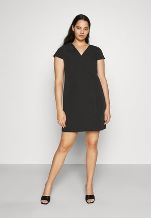 TAILORED DRESS - Shift dress - black