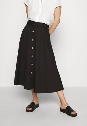 THE BELTED CIRCLE SKIRT - A-lijn rok - black