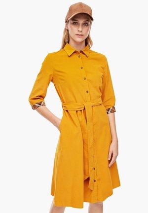 MIT CHECK-DETAIL - Shirt dress - yellow