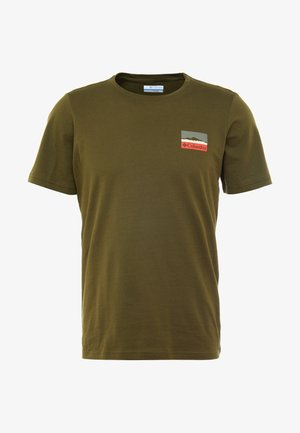 RAPID RIDGE BACK GRAPHIC - T-shirt con stampa - new olive leafscape