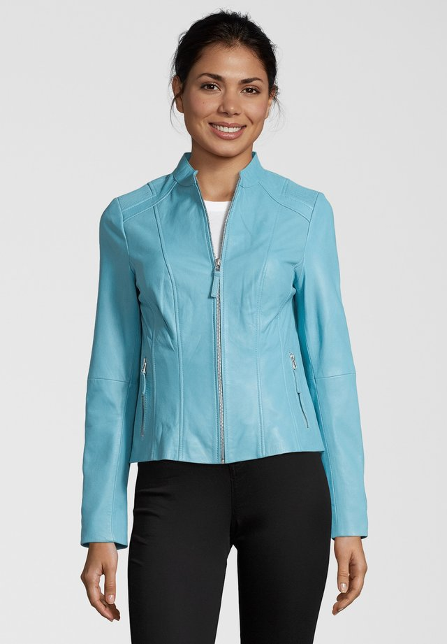 PAULINA - Leather jacket - blue