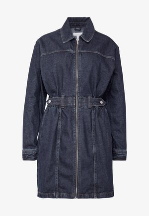 SIDE TAB SHIRT DRESS - Denim dress - dark blue