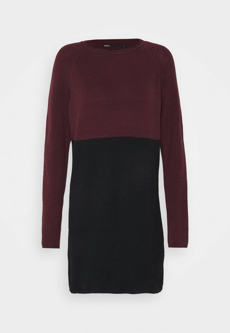 ONLY - Pletené šaty - windsor wine/black