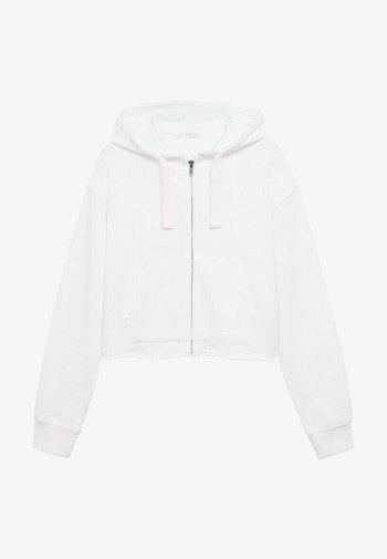 JUDITH - Sweater met rits - blanc cassé