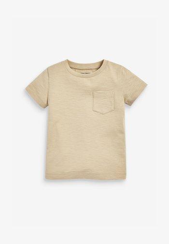 SHORT SLEEVE - Basic T-shirt - tan