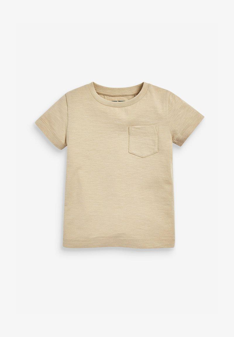 Next - SHORT SLEEVE - Basic T-shirt - tan