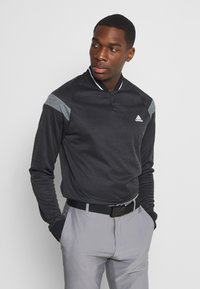 adidas Golf - WARMTH 1/4 ZIP - Sweatshirt - black melange - 0