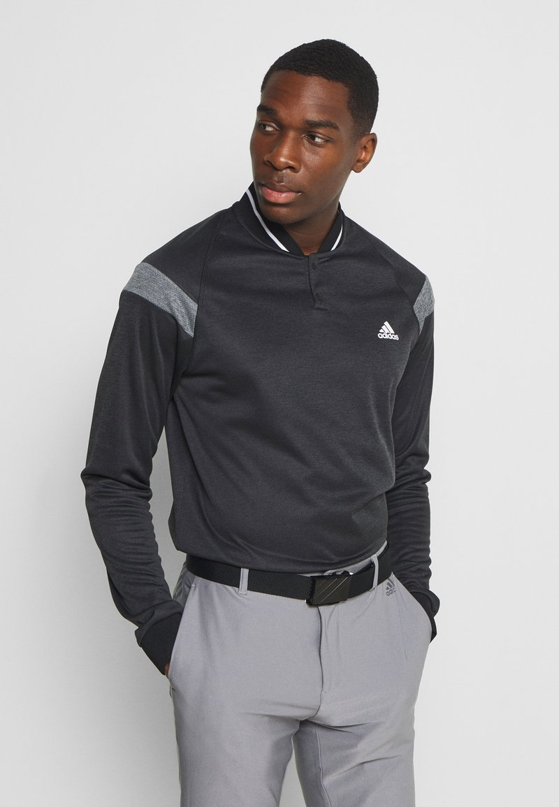 adidas Golf - WARMTH 1/4 ZIP - Sweatshirt - black melange