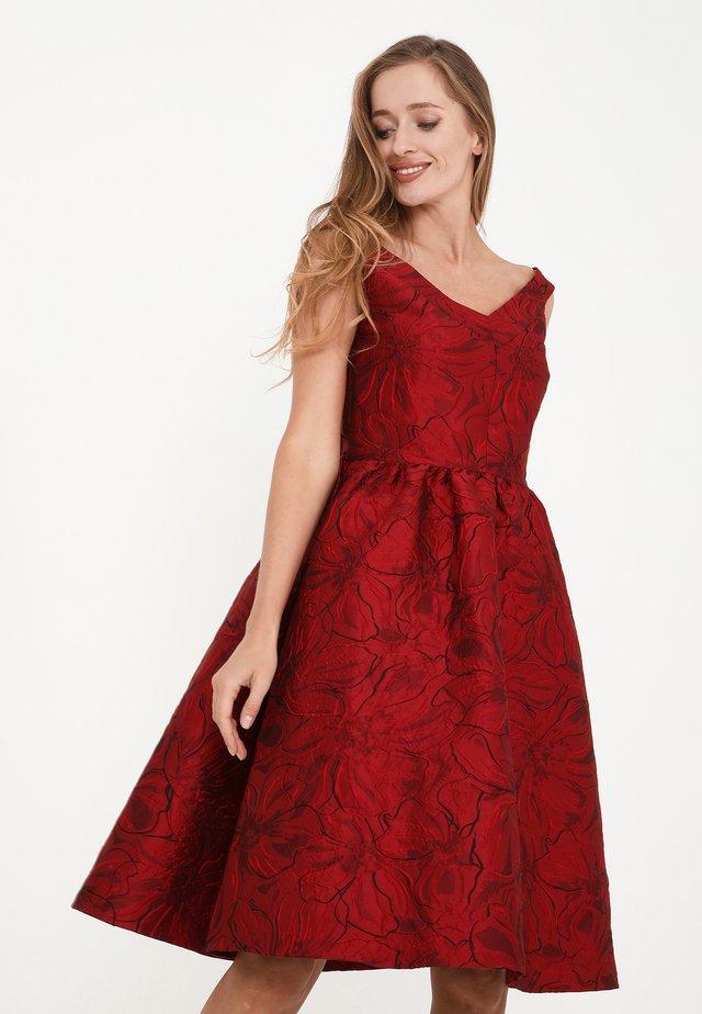 DANAY - Vestito elegante - schwarz, rot