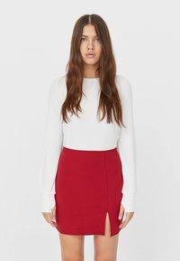 Stradivarius - A-line skirt - red - 0