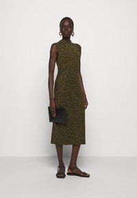 Proenza Schouler White Label - ABSTRACT SWIRL SHEER STRETCH DRESS - Robe longue - military/black - 1