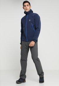 Haglöfs - NATRIX HOOD MEN - Soft shell jacket - tarn blue/storm blue - 1