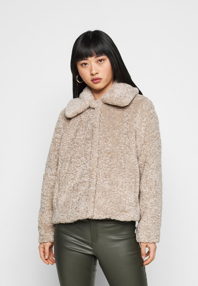 SHORT JACKET - Overgangsjakker - cool taupe