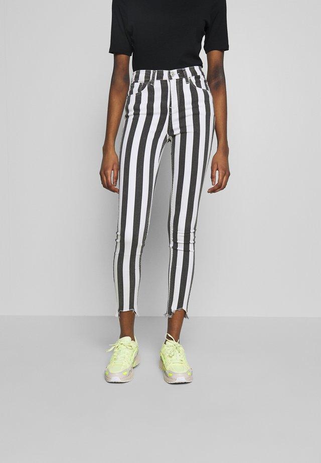 TANYA - Jeans Skinny Fit - striped black wash
