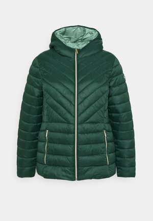 ZIP FRONT PACKABLE WHOOD - Light jacket - dark emerald