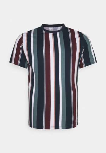 BRENT STRIPE CREW TEE - Print T-shirt - sage