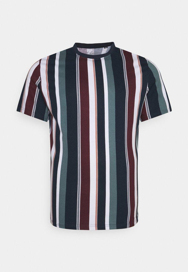 Johnny Bigg - BRENT STRIPE CREW TEE - Print T-shirt - sage