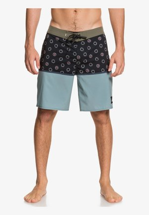 "QUIKSILVER™ HIGHLINE DIVISION 19"" - BOARDSHORTS FÜR MÄNNER EQYBS - Swimming shorts - dark blue/light blue/khaki"