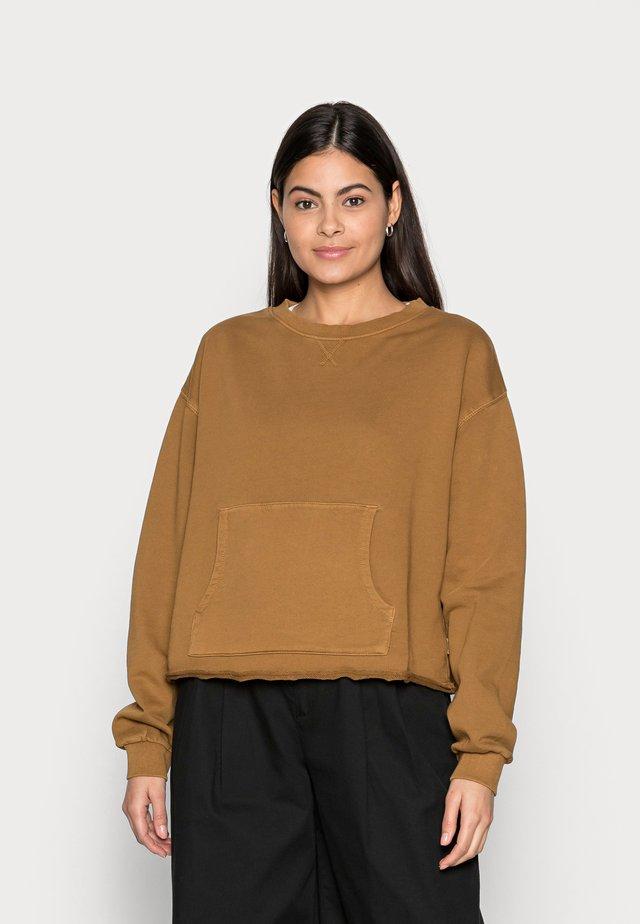 Sweatshirt - brown ochre