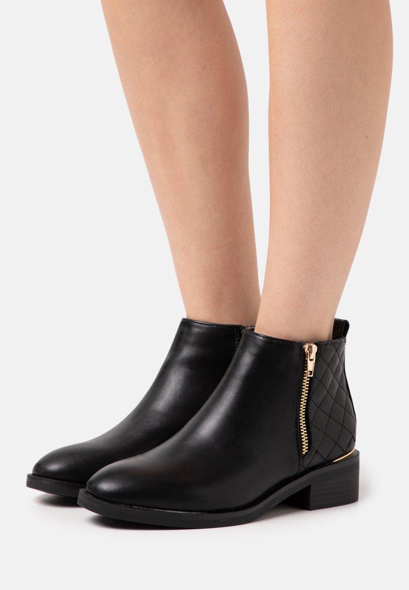 New Look - BRUCIE QUILTED ZIP - Kotníková obuv - black
