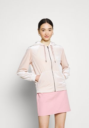 VIVELVETTA ZIP HOODIE - Zip-up hoodie - peach blush