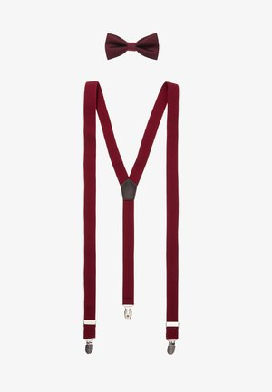 ONSBOWTIE SUSPENDER SET - Mucha - bordeaux