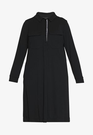 PATCH POCKET DRESS - Shirt dress - black