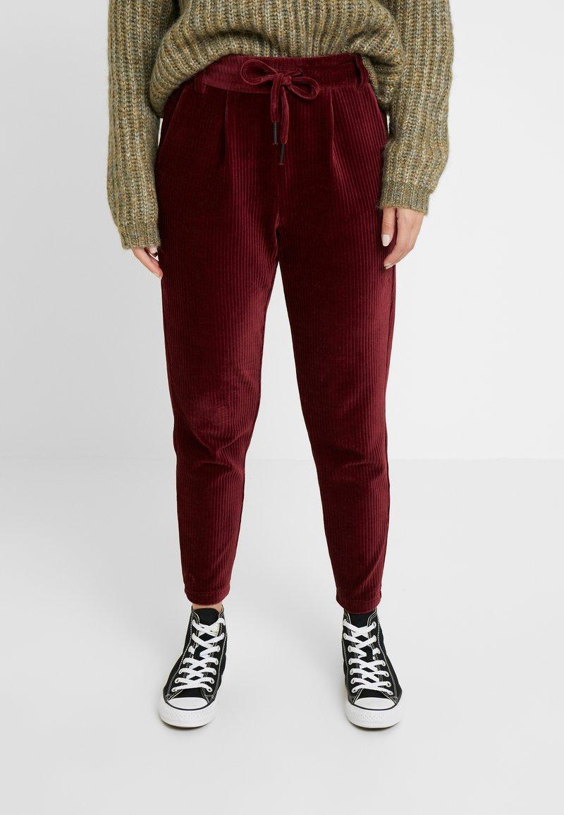 ONLY Petite - ONLPOPTRASH PING PONG PANTS - Pantaloni - chocolate truffle