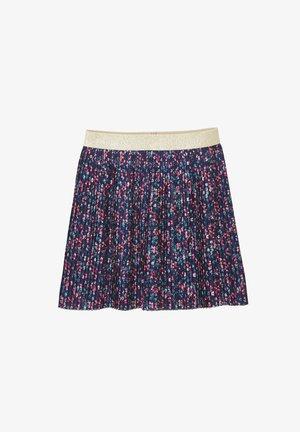 A-line skirt - nachtblau geblümt