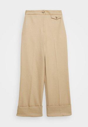 ASTEN WIDE - Trousers - camel