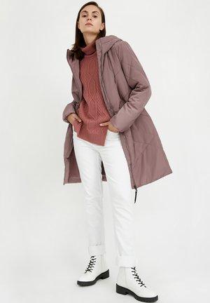 Winter coat - grey-lilac