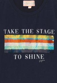 Vingino - HARSINA - Print T-shirt - dark blue - 3