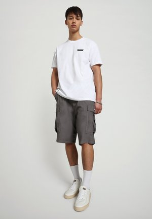 S-PATCH SS - T-shirt - bas - bright white