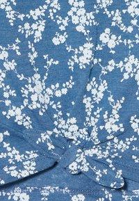 GAP - GIRL TIE HEM TEE  - T-shirt print - blue - 3