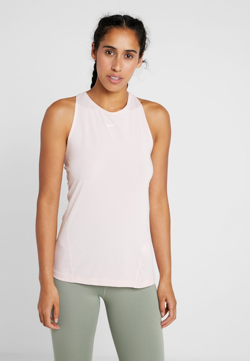 Nike Performance - TANK ALL OVER  - Sports shirt - echo pink/white