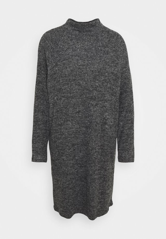 VMTAMMI HIGH NECK DRESS - Jumper dress - dark grey melange