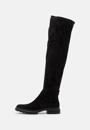 CLEATED HIGH BOOT  - Over-the-knee boots - black