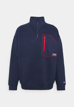 CONTRAST POCKET ZIP MOCK - Light jacket - twilight navy