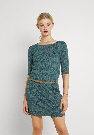TANYA FLOWERS - Jersey dress - dark green