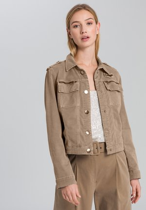 Denim jacket - taupe varied