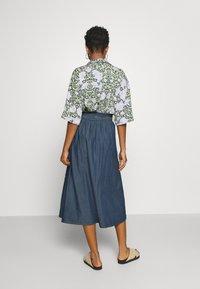 Pieces - PCELSA SKIRT - A-line skirt - dark blue denim - 2