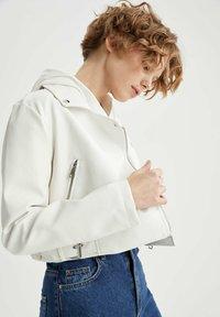 DeFacto - Faux leather jacket - white - 5