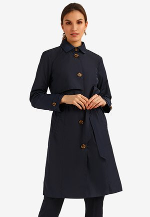 MIT BINDEGÜRTEL - Trenchcoat - dark blue