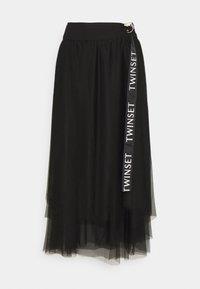 TWINSET - Długa spódnica - nero - 0