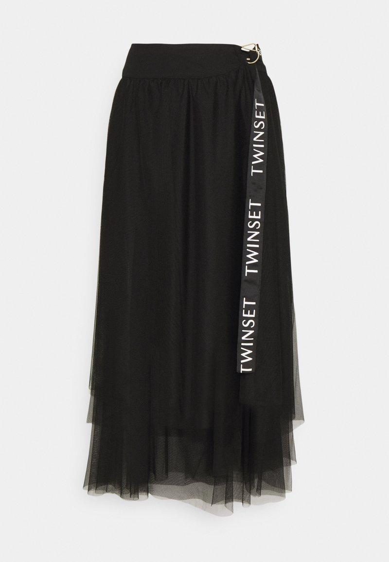 TWINSET - Długa spódnica - nero