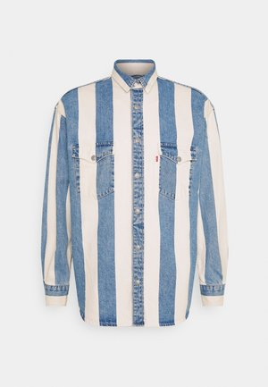 BARSTOW WESTERN UNISEX - Shirt - blue denim/white