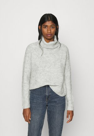 ONLOLIVIA LOOSE ROLLNECK  - Jersey de punto - light grey melange