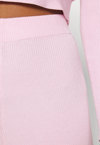 Missguided - WRAP FRONT LONG SLEEVE SET - Leggings - Trousers - pink - 9
