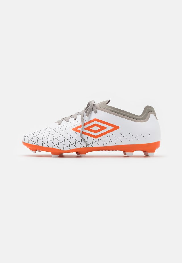 VELOCITA V PREMIER FG - Moulded stud football boots - white/carrot/frost gray