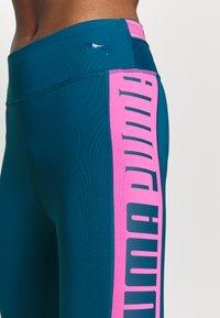 Puma - TRAIN LOGO HIGH RISE - Tights - digi blue/luminous pink - 3